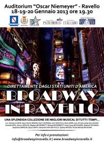 """La locandina del progetto """"Broadway in Ravello"""""""