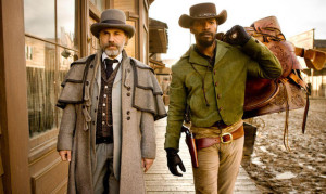 Christoph Waltz e Jamie Fox in Django