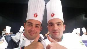 Una foto dei due talenti nostrani al Culinary World Cup tenutosi lo scorso novembre: a sinistra, Emanuele Mariani, a destra, Raimondo Esposito.