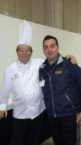 Con Girolamo Brescia, 14 volte campione mondiale.
